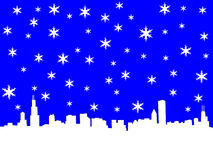 Chicago Skyline in winter Royalty Free Stock Photo