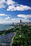 Chicago Skyline With Lakefront, IL Stock Photo