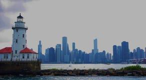 Chicago-Skylineleuchtturm Stockfotografie