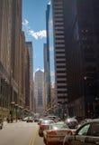 Chicago-Skylinepanorama mit Wolkenkratzern über Michiganseeesprit Stockfotografie