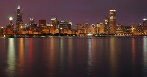chicago skymninghorisont Arkivfoton