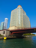 Chicago Skyscraper from the river Royalty Free Stock Photography