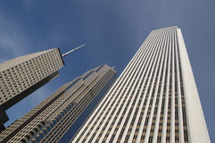 Chicago Skyscrapers. Looking skyward at some of Chicago's tallest skyscrapers royalty free stock image