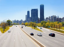 Chicago Skyscrapers from Lake Shore Drive stock image