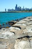 Chicago Skyscrapers from the Lakefront to North Royalty Free Stock Photos
