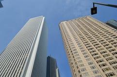 Chicago skyskrapapar arkivfoton