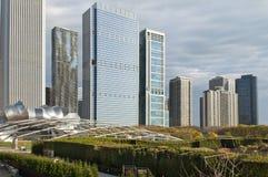 chicago skyskrapor Fotografering för Bildbyråer