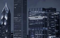 Chicago skyskrapor Arkivbild