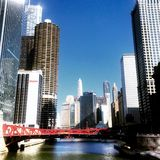 chicago skyskrapor Royaltyfria Foton