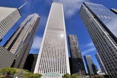 Chicago skyskrapor, Illinois Arkivfoton