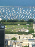 Chicago small yacht marina Stock Images