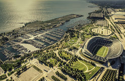 Chicago Soldiers Filed Stadium aerial view Royalty Free Stock Photos