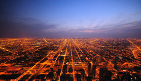 chicago solnedgång Royaltyfria Foton