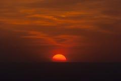 Chicago solnedgång Arkivbilder