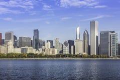 Chicago som är i stadens centrum i nedgånglandskap Arkivbild