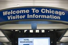 chicago som ska välkomnas Royaltyfri Fotografi