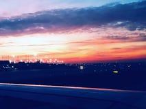 Chicago-Sonnenuntergang stockbilder