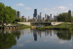 Chicago in spring Royalty Free Stock Images
