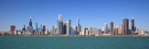 Chicago-Stadt-Skyline Lizenzfreies Stockfoto