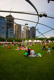 Chicago-Stadtansicht vom Jahrtausendpark Lizenzfreie Stockfotografie