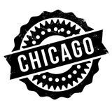 Chicago stamp rubber grunge Royalty Free Stock Photo