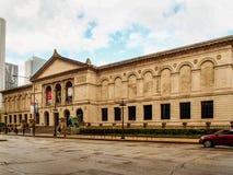 Chicago, Stati Uniti - Art Institute dell'edificio di Chicago immagini stock libere da diritti