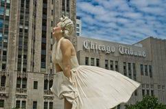 chicago statua Marilyn Monroe Obraz Stock