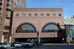 Chicago Stock Exchange Building. This is a Winter picture of the Chicago Stock Exchange Building located in Chicago, Illinois. This picture was taken on February stock photo