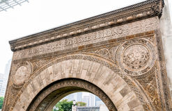 Chicago Stock Exchange Entrance arch. Stock Photos