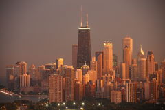 Chicago after a storm. This is a photo of Chicago and the Hancock building after a summer storm stock photo