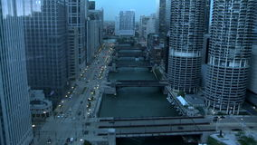 Chicago storm rolling in timelapse stock video footage