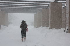 Chicago Storm -- Students at IIT Stock Photography