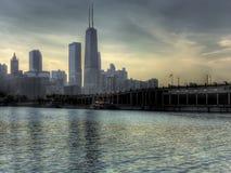 chicago strand Arkivfoton