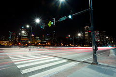 Chicago Street at Night Royalty Free Stock Image