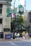 Chicago Street Scene with Marshall Field Clock Stock Image