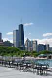 Chicago Street Side View at Summer Royalty Free Stock Photo