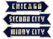 Chicago Street Sign Grunge
