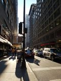 Chicago street view. Chicago downtown street scene Stock Images