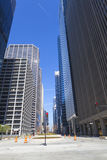 Chicago Streets. With Blue Sky Royalty Free Stock Images