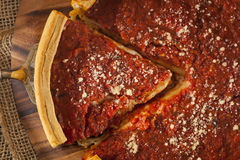 Chicago Style Deep Dish Cheese Pizza Royalty Free Stock Photos