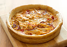 Chicago style deep dish pizza with buffalo chicken Stock Image