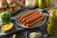Chicago Style Hot Dog Ingredients Stock Photography
