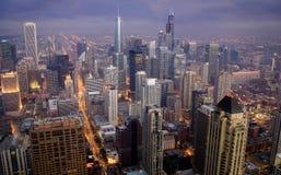 Chicago su il quarto luglio fotografie stock libere da diritti