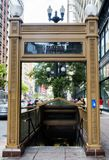 Chicago Subway entrance August 3rd, 2017 - Chicago, Illinois Stock Image