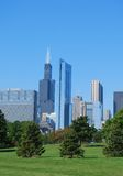 Chicago in summer. Topview chicago in summer scenery Stock Photo