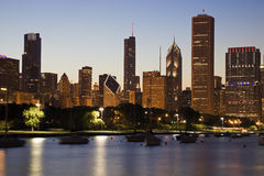Chicago during summer Royalty Free Stock Photos