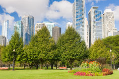 Chicago in a summer day Royalty Free Stock Photos