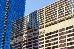 Chicago Sun Times. CHICAGO - MAY 12: View of the Chicago Sun Times building in downtown Chicago on May 12, 2017 Royalty Free Stock Image