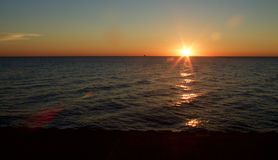 Chicago Sunrise. Sunrise in Lake Michigan in Chicago Royalty Free Stock Photos