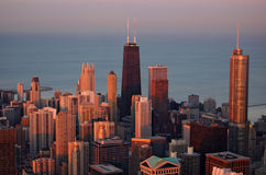 Chicago at sunset Stock Photography